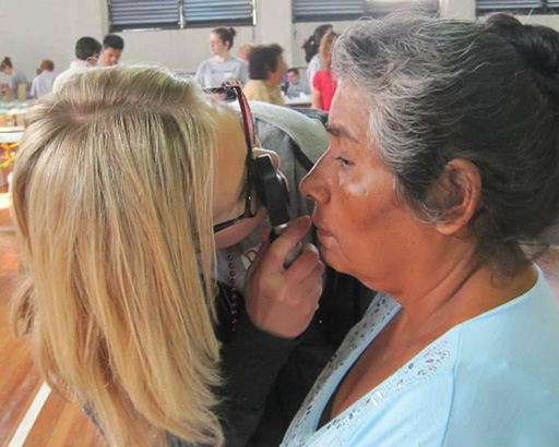 helping a patient in Mexico